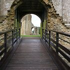Over the Moat - Sherborne Old Castle by lezvee