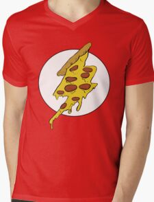 The Flash - Pizza Mens V-Neck T-Shirt