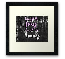 Foxes Hunt The Hounds Framed Print