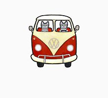 Two Cats in a Bus Road Trip Unisex T-Shirt