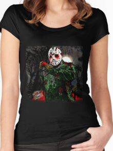 Jason Vorhees- camp crystal lake Women's Fitted Scoop T-Shirt