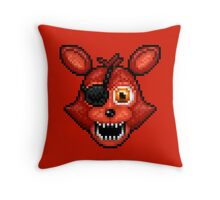 Adventure Foxy - FNAF World - Pixel Art Throw Pillow