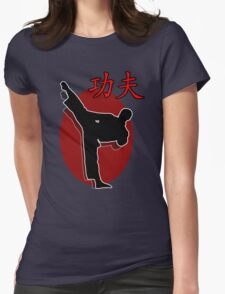 Shaolin Warrior, Kung Fu Womens Fitted T-Shirt