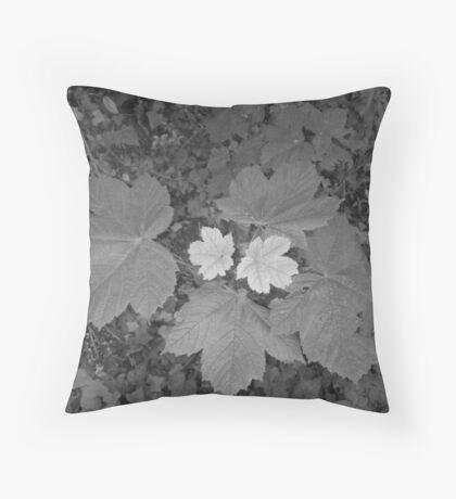 two tone leaf Throw Pillow