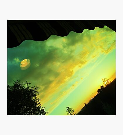 Cat Eye in the Evening Sky Photographic Print