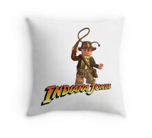 Indiana Jones - Lego version Throw Pillow