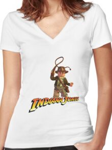 Indiana Jones - Lego version Women's Fitted V-Neck T-Shirt