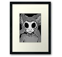 Behind The Mask Framed Print