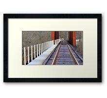 Laying Down Tracks Framed Print