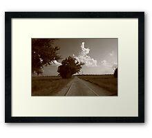 Oklahoma Route 66, 2008, Sepia Framed Print