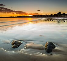 Wet Beach Sand Sunrise by fotosic