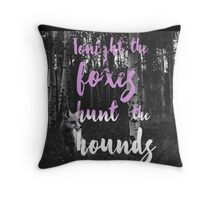 Foxes Hunt The Hounds Throw Pillow