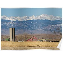 Rocky Mountain Country View Poster