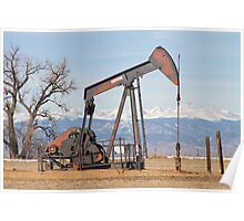 Colorado Front Range Oil Well Pump Poster