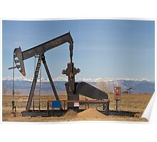 Colorado Rocky Mountain Oil Wells Poster