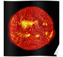 Venus in Transit Across the Sun - Red Poster
