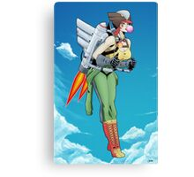 Bombshell Hawkgirl Canvas Print