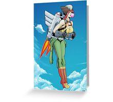 Bombshell Hawkgirl Greeting Card
