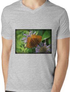 Orange Summer Mens V-Neck T-Shirt