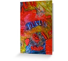 abstract red Greeting Card