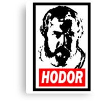 Obey Hordor Canvas Print