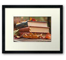 autumn reading  Framed Print