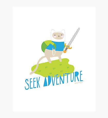 """Seek Adventure"" Kitty Photographic Print"