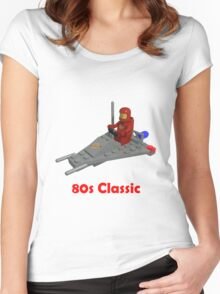 80s Classic Space Lego Women's Fitted Scoop T-Shirt