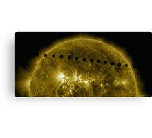 Venus in Transit Across the Sun - Sequence Canvas Print