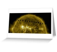 Venus in Transit Across the Sun - Sequence Greeting Card