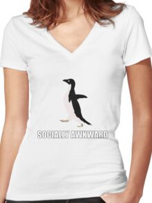 Socially Awkward Tee Women's Fitted V-Neck T-Shirt