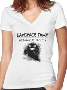 Lavender Town Paranormal Women's Fitted V-Neck T-Shirt