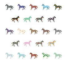 Colorful Horses Lantern Pattern  by thejoyker1986