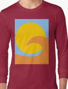 Orange Wave Long Sleeve T-Shirt