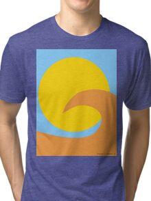 Orange Wave Tri-blend T-Shirt