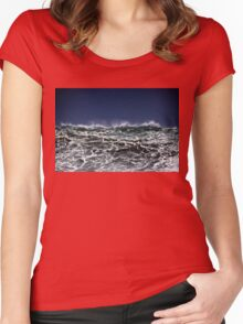 Winter Waves At Pipeline 11 Women's Fitted Scoop T-Shirt