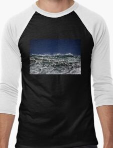 Winter Waves At Pipeline 11 Men's Baseball ¾ T-Shirt