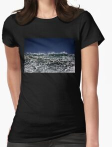 Winter Waves At Pipeline 11 Womens Fitted T-Shirt