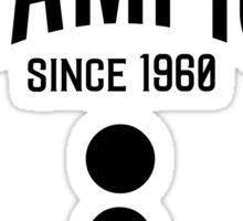 Hide & Seek Champion since 1960 Semicolon - Black on Grey Programmer Humor Sticker
