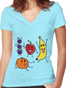 Fruits!!! Women's Fitted V-Neck T-Shirt