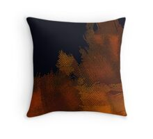 Orange patch Throw Pillow