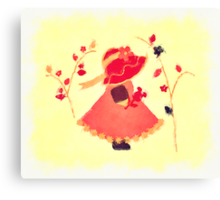 The Little Red Hat Canvas Print