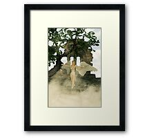Angel and The Sacred Ruins Framed Print