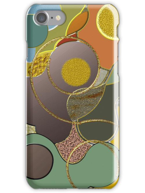 Cool Modern Metallic abstract case by walstraasart