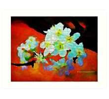 Abstract Spring Blossoms in Oil Art Print