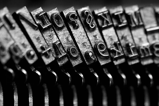 Typewriter keys by Falko Follert