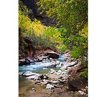 Virgin River in Autumn Photographic Print