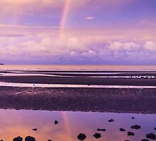 Rainbow over Bramble Bay by Peta Thames