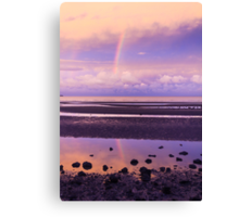 Rainbow over Bramble Bay Canvas Print