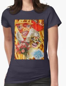 Pizza and Donair love affair Womens Fitted T-Shirt